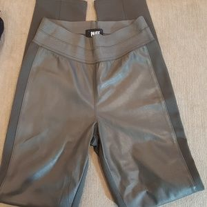 Paige leather front panel leggings size M